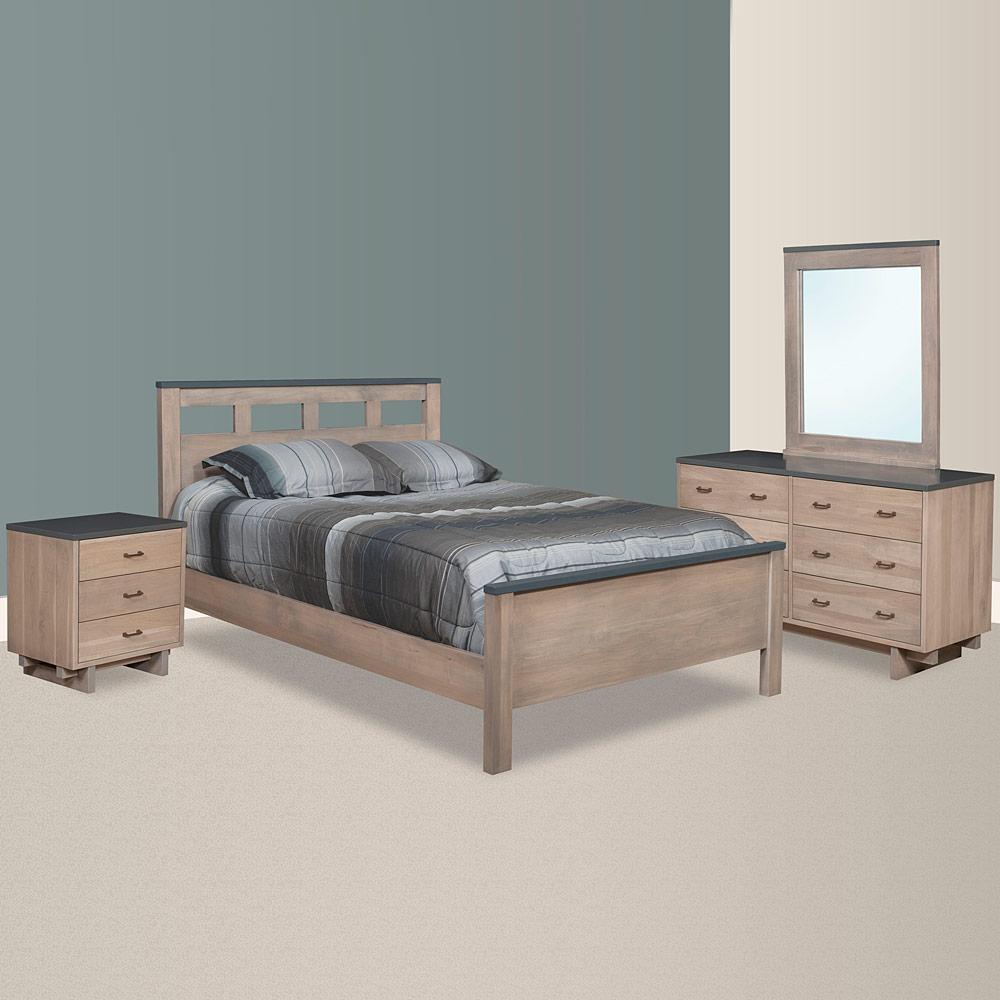 Modern Master Bedroom Set Handcrafted Solid Wood Bedroom Furniture Kashima