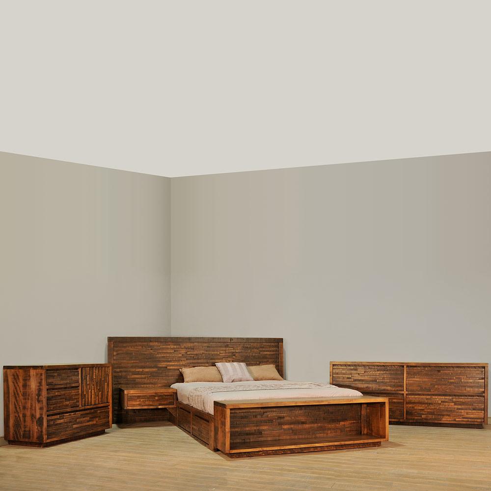Ledge rock bedroom suite cabinfield fine furniture for Bedroom sets without bed