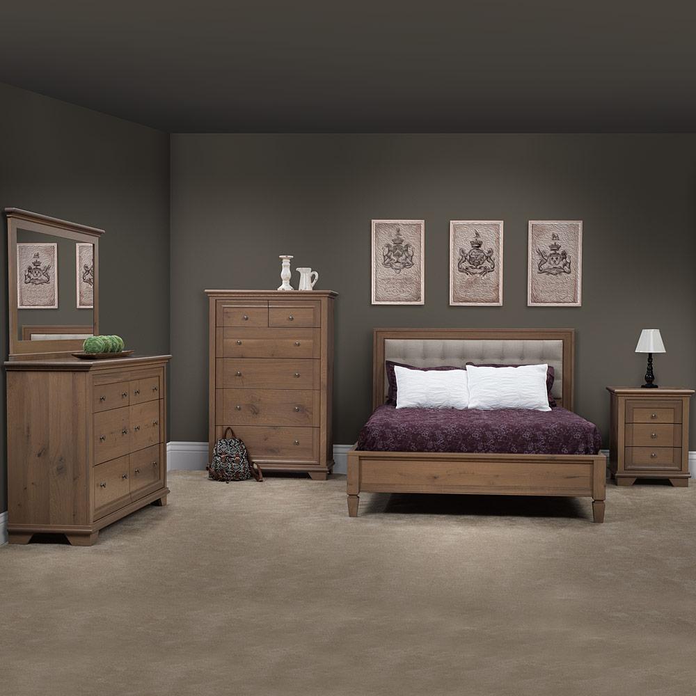 Modern Master Bedroom Set Handcrafted Dresser Bed Chest