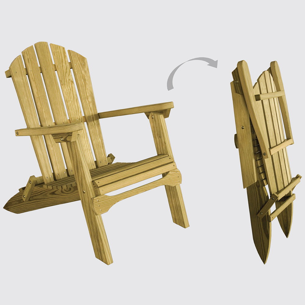 Grand Lakes Folding Amish Adirondack Chair Lawn Chair Cabinfield Fine Furniture