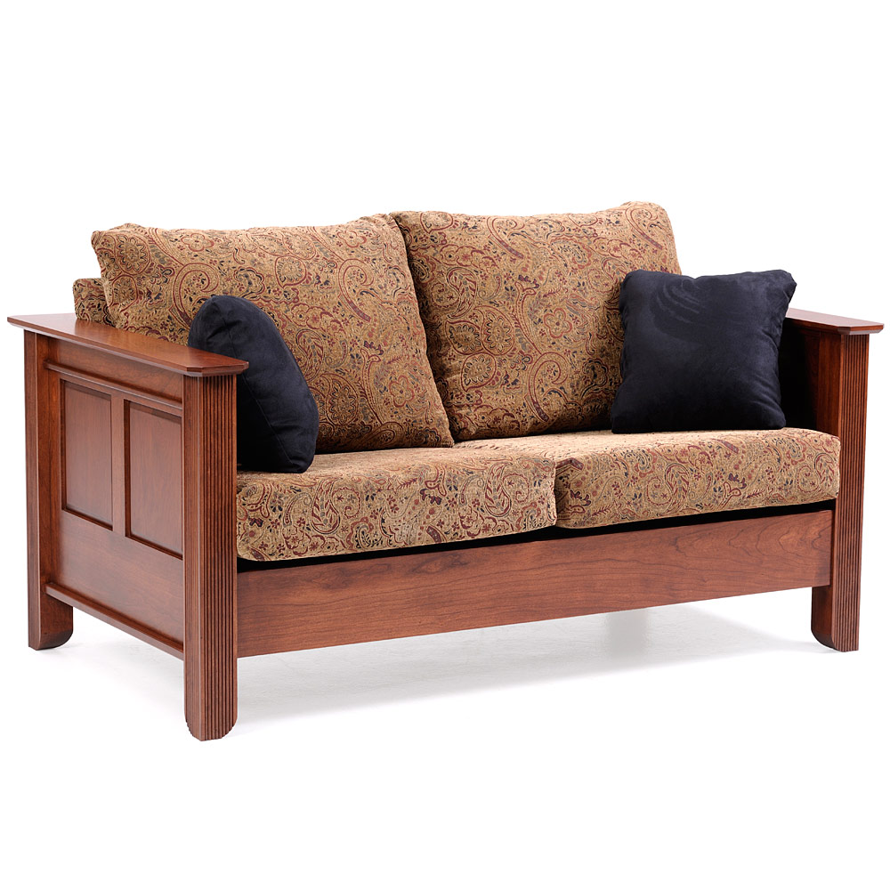 Loveseat Amish Mission 2 Seater Small Sofa Couch Leather
