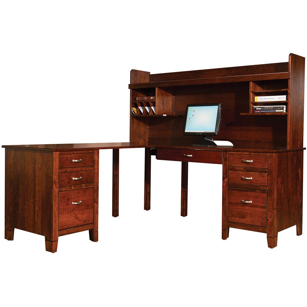 Jacobsville Corner Amish Desk Hutch Amish Furniture