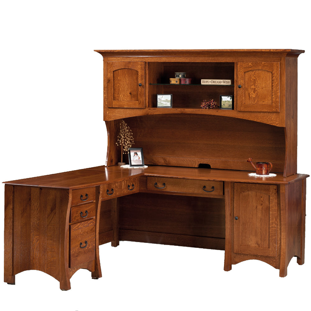 promo code 4c8c5 a974f Master Executive Corner Computer Desk & Amish Hutch Option