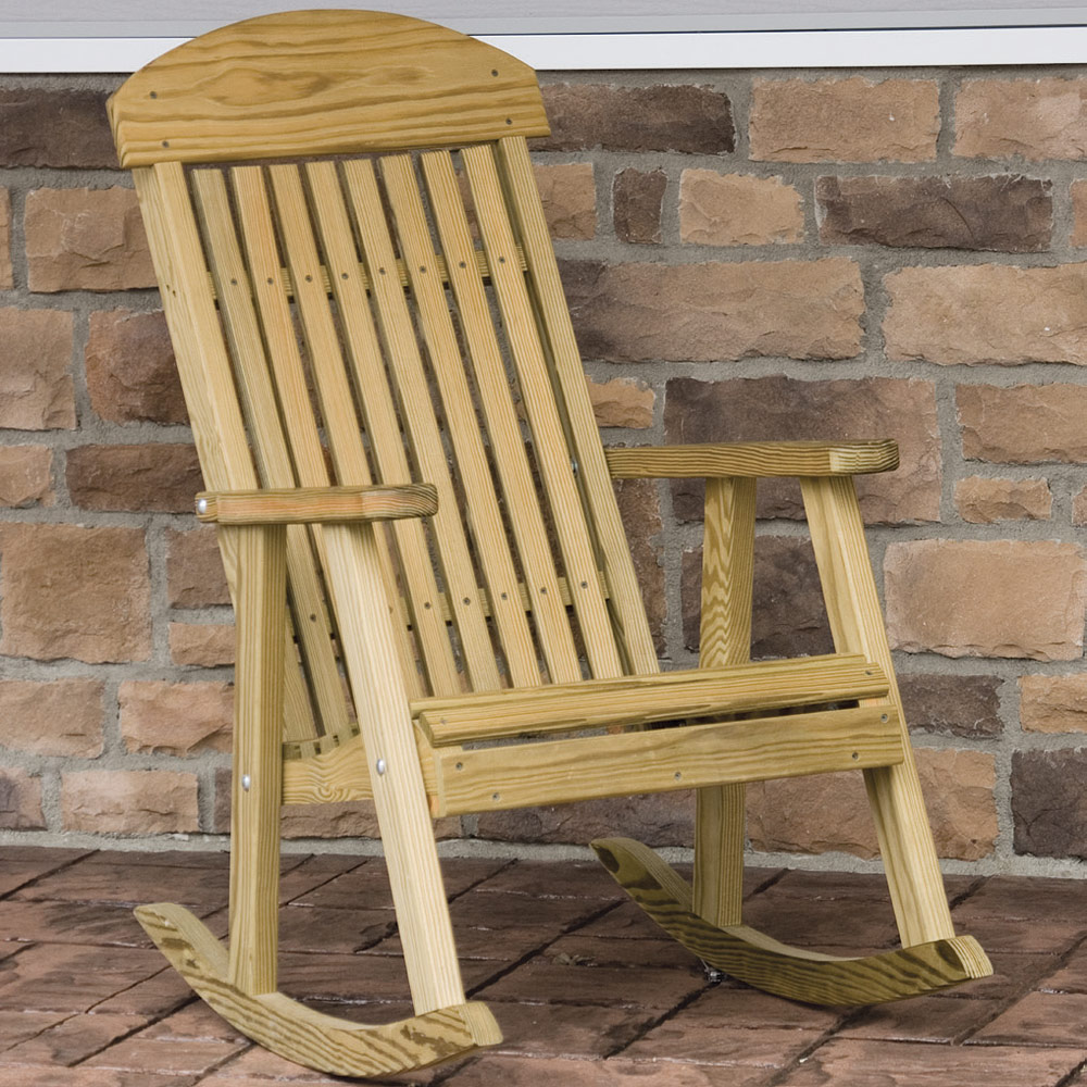 Classic Porch Amish Rocking Chair - Patio Furniture | Cabinfield ...