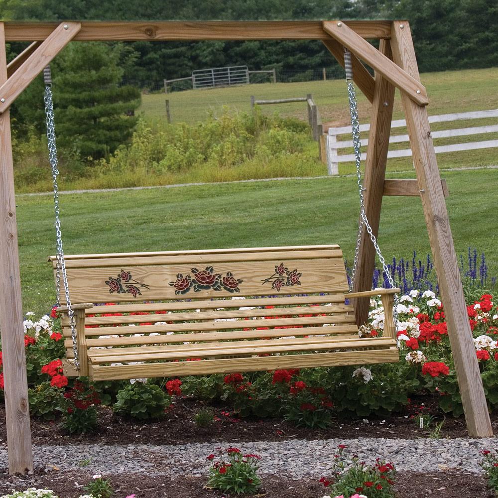 Amish Patio Pinewood Swings amp Gliders Rollback Swing