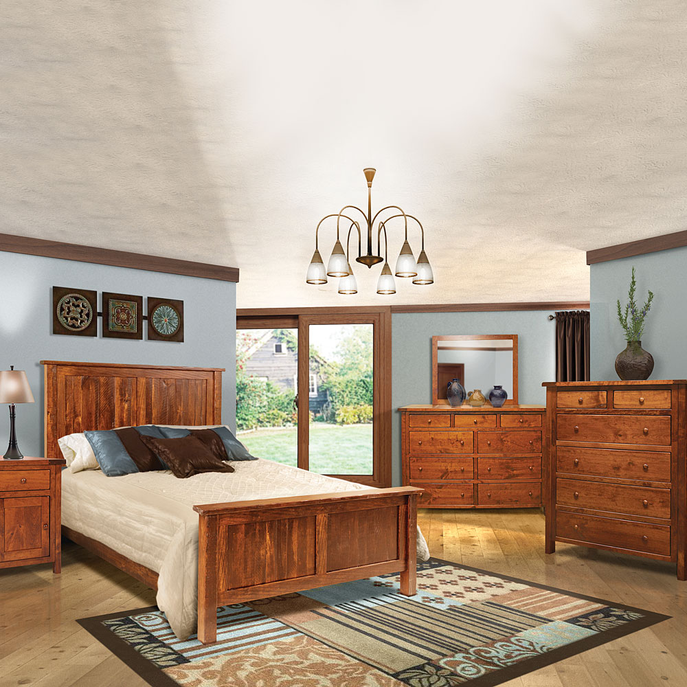 Admirable Morgan Mill Amish Bedroom Furniture Set Home Interior And Landscaping Pimpapssignezvosmurscom