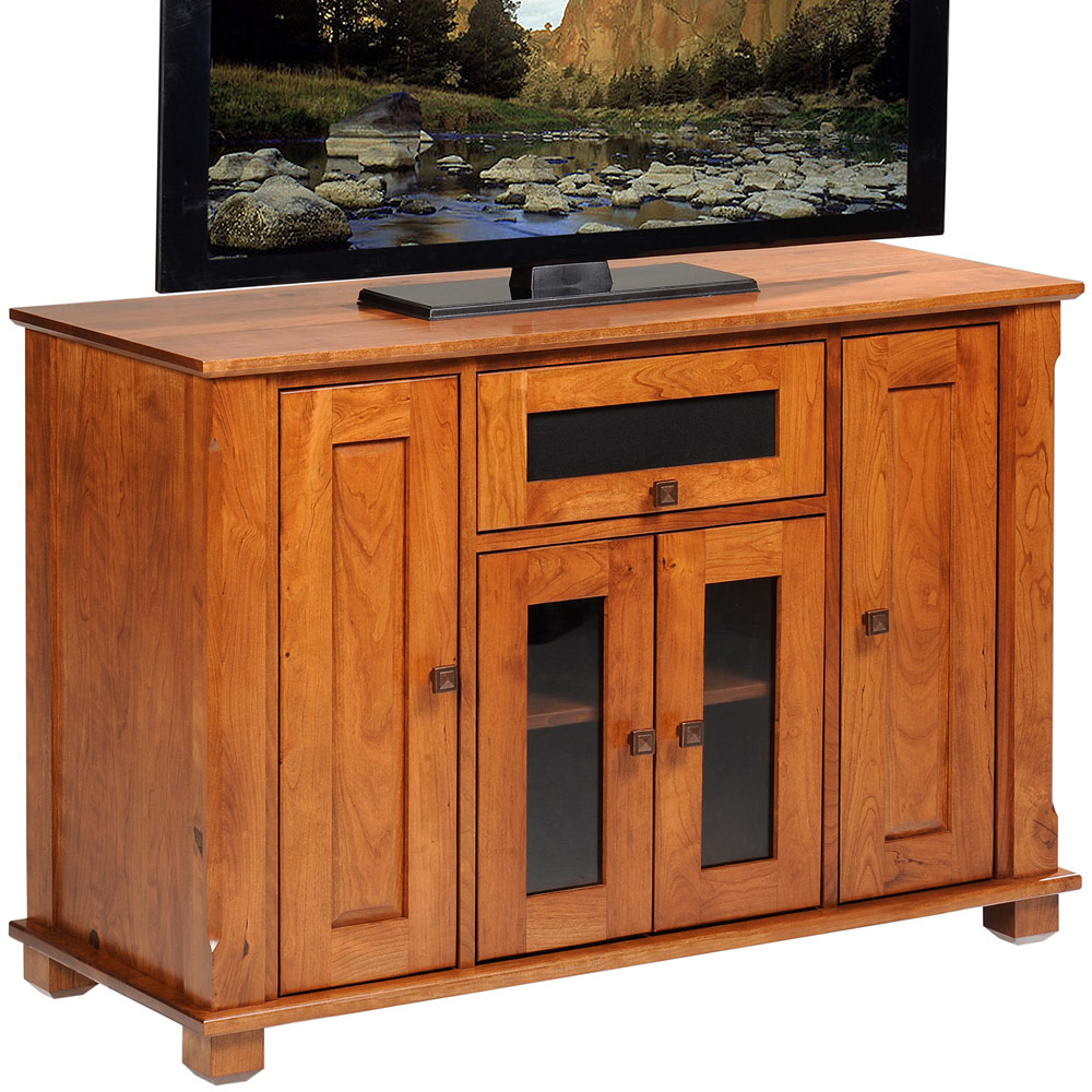 Hampton Amish Tv Console With Flip Up Door