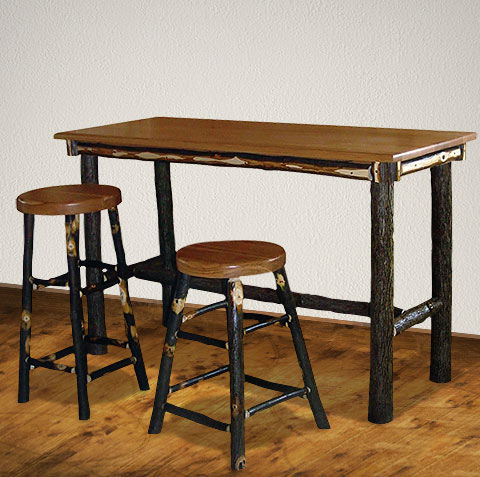 Hickory Rectangle Pub Table