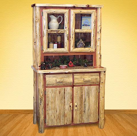 Amish Log Hutches Cedar Grove Small Kitchen Hutch Handmade, Kitchen Ideas