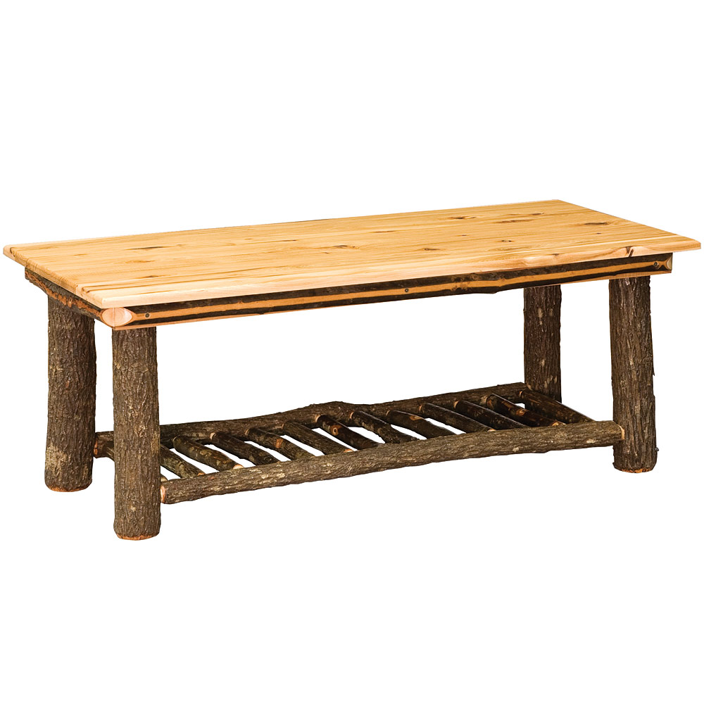 Amish hickory tables hickory collection coffee table rustic home accents Collectors coffee table