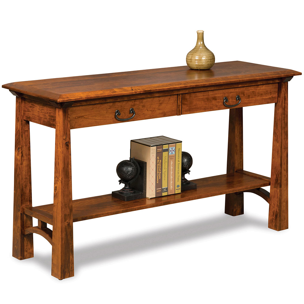 Sofa Table Amish Solid Wood Mission Style Accent Living Room Console Artesa