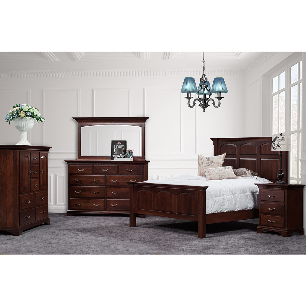 Traditional bedroom set amish solid wood handmade hampton for Traditional bedroom furniture