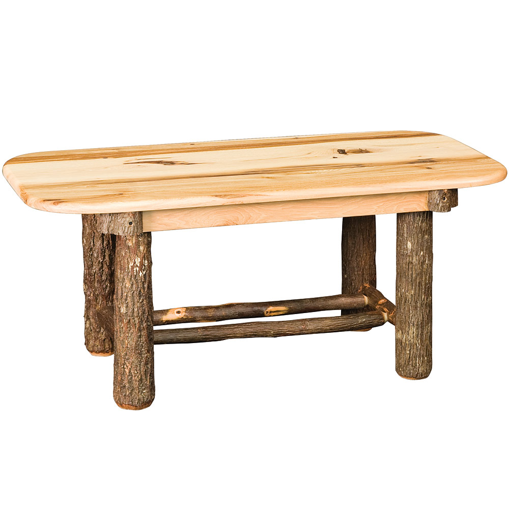 Amish Hickory Tables Hickory Bearwood Coffee Table Rustic Home Accents
