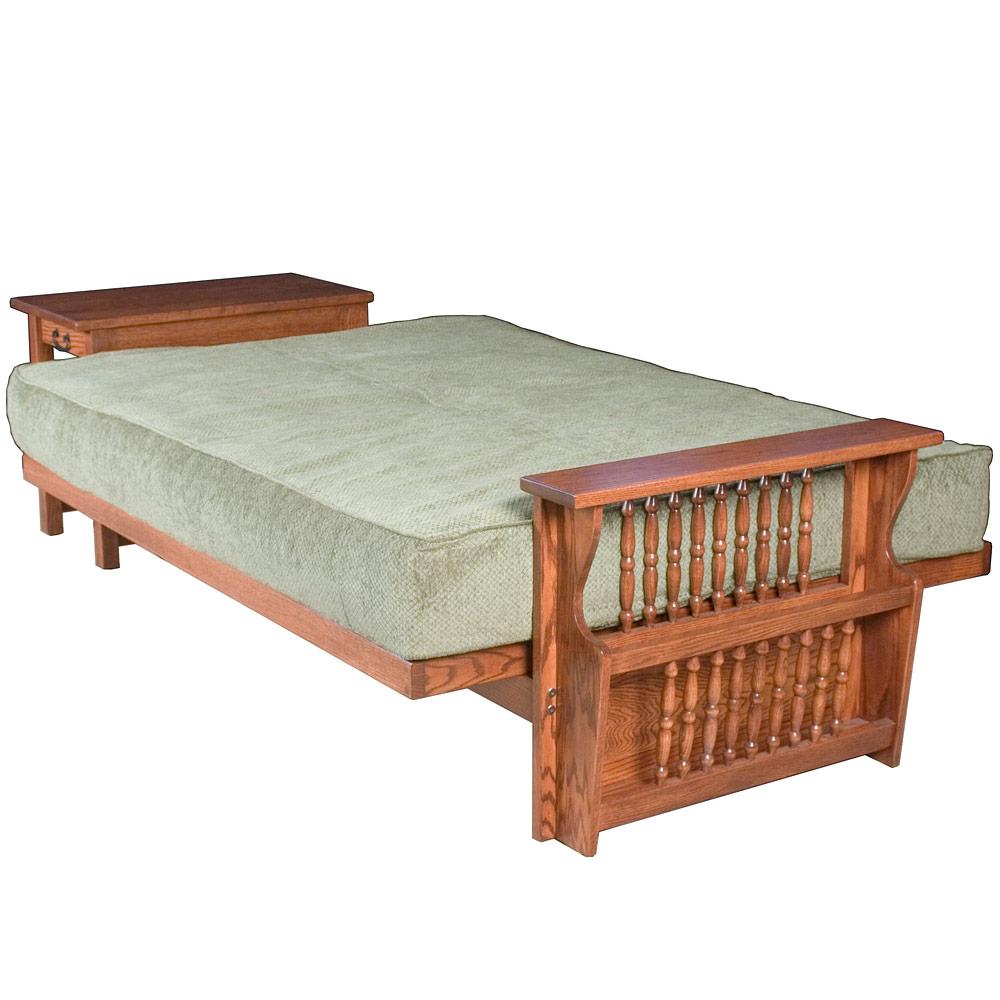 Futon bed sleeper sofa bed futon mattress amish solid for Sofa bed jamaica