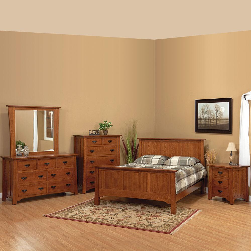 Linden Street Amish Bedroom Set Bed More Cabinfield Fine Furniture