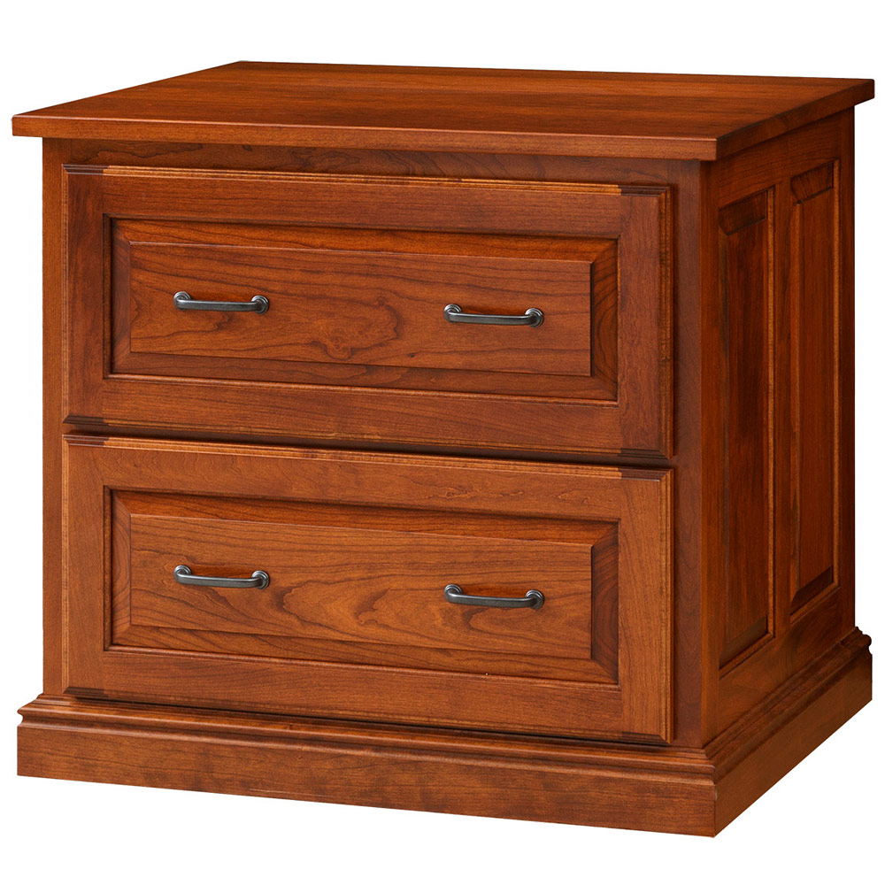 Attirant Stonegate Lateral Amish File Cabinet With Raised Panel Drawers